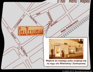 Mapka dojazdu do lokalu Sens Nonsensu