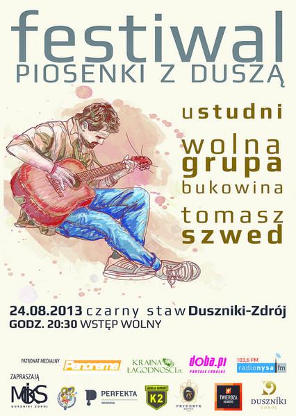 Festiwal Piosenki z Duszą - oficjalny plakat (źródło: dkl.doba.pl)