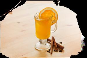 zielona herbata z pomarańczą, wanilią i imbirem