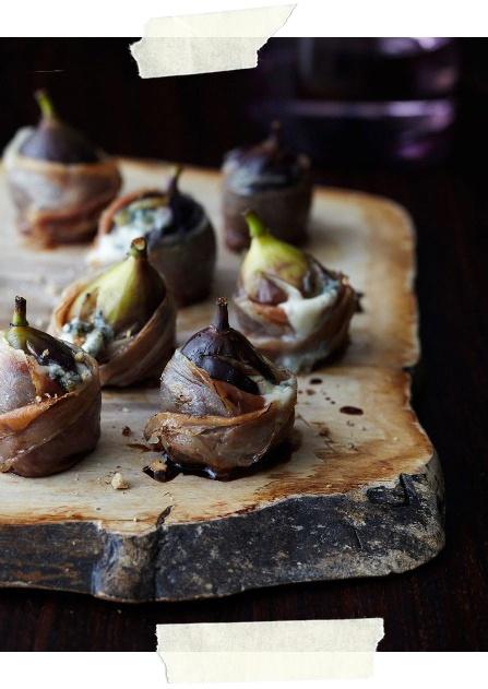 Figi zapiekane z serem kozim i szynką parmeńską (źródło: pinterest)