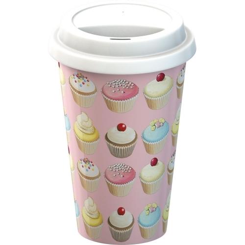 Porcelanowy kubek podróżny Muffin (źródło: mybaze.com)