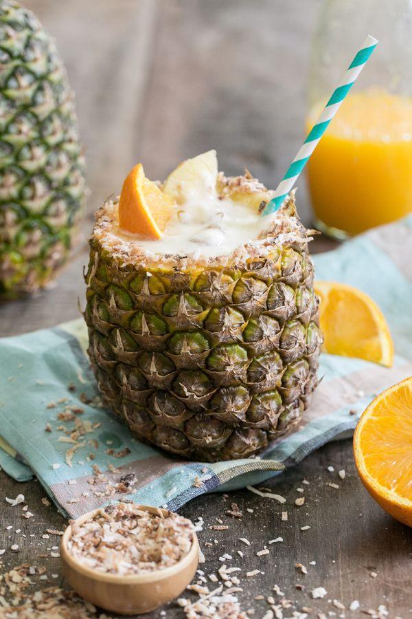 Koktajl ananasowy z jabłkiem (źródło: pinterest)