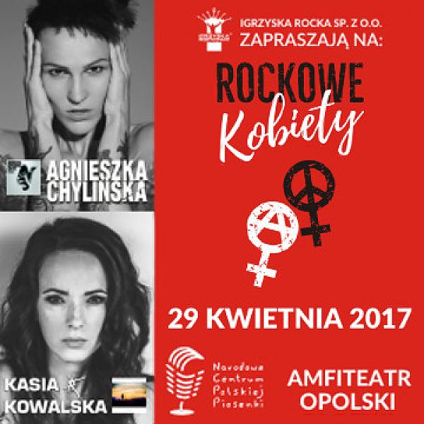 ulotka zapraszająca na igrzyska rocka z Agnieszką Chylińska i Kasią Kowalką