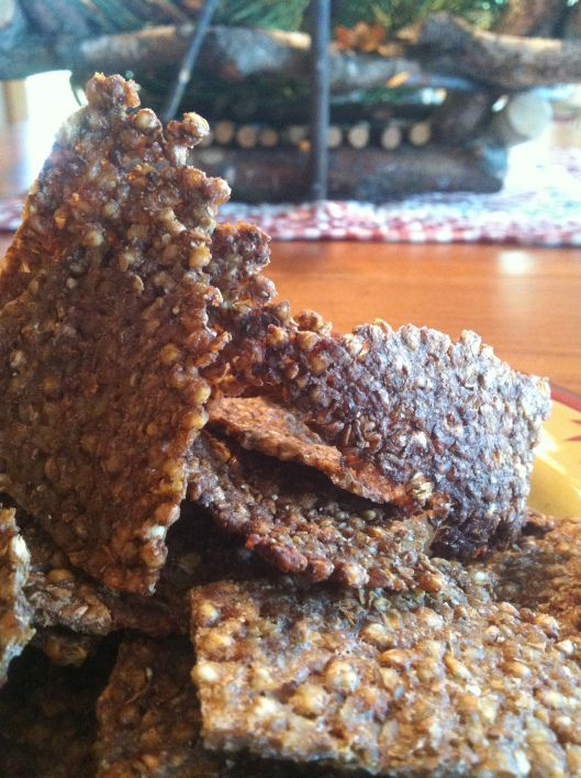 krakersy z kaszy jaglanej