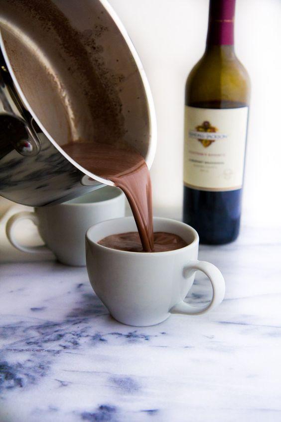 gorąca czekolada z winem