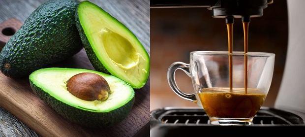 kawa z owocem awokado